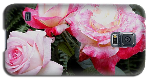 Galaxy S5 Case featuring the photograph Pink Garden Roses by James C Thomas