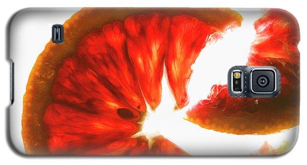 Pink Grapefruit, Backlit Galaxy S5 Case