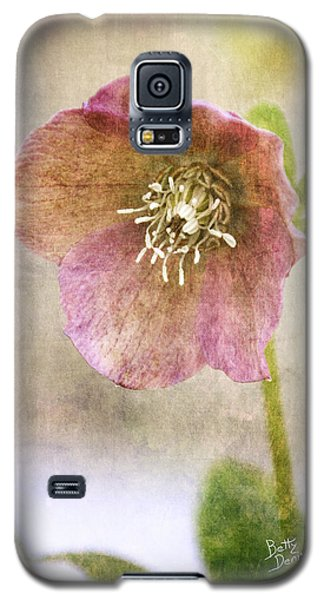 Galaxy S5 Case featuring the photograph Pink Hellebore by Betty Denise