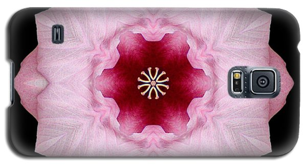 Pink Hibiscus I Flower Mandala Galaxy S5 Case