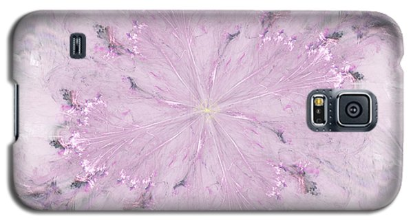 Galaxy S5 Case featuring the digital art Pink Hibiscus by Victoria Harrington