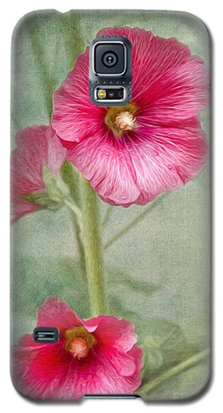 Pink Hollyhocks Galaxy S5 Case
