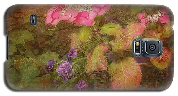 Pink Hydrangea And Purple Pansies Galaxy S5 Case by Bellesouth Studio