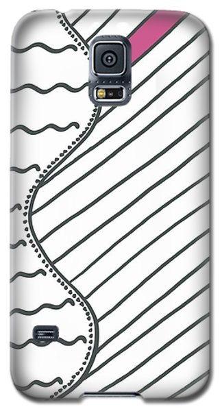 Galaxy S5 Case featuring the drawing Pink by Jill Lenzmeier