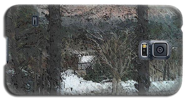 Snow - Pink Mountain - Blueridge Mountains Galaxy S5 Case