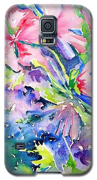 Pink Lavatera Profusion Galaxy S5 Case