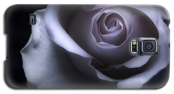 Black And White Rose Flower Macro Photography Galaxy S5 Case