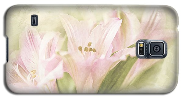 Galaxy S5 Case featuring the painting Pink Lilies by Linda Blair