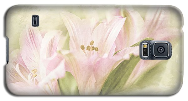 Pink Lilies Galaxy S5 Case by Linda Blair