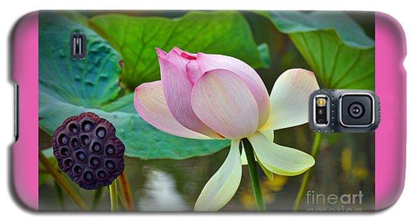Pink Lotus Galaxy S5 Case by Savannah Gibbs