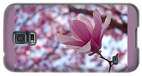 Pink Magnolia Galaxy S5 Case by Rona Black