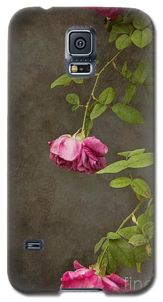 Pink On Gray Galaxy S5 Case by K Hines