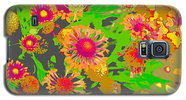 Galaxy S5 Case featuring the photograph Pink Orange Flowers by Suzanne Powers