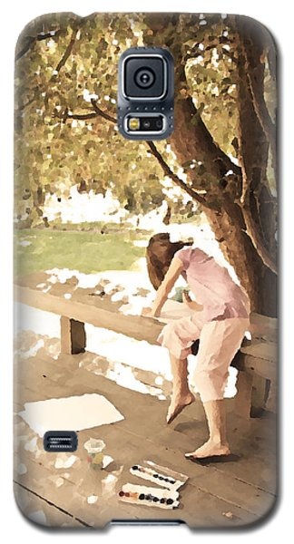 Galaxy S5 Case featuring the photograph Pink Painter by Brooke T Ryan