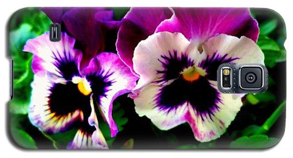 Violet Pansies Galaxy S5 Case