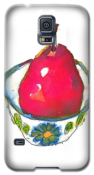 Pink Pear In Floral Bowl Galaxy S5 Case