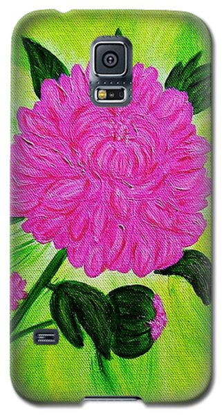 Pink Peony Galaxy S5 Case by Celeste Manning