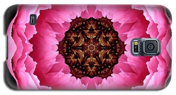 Pink Peony Flower Mandala Galaxy S5 Case