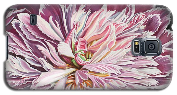 Galaxy S5 Case featuring the painting Pink Peony by Jane Girardot