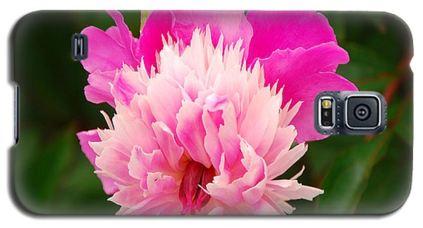 Galaxy S5 Case featuring the photograph Pink Peony by Mary Carol Story