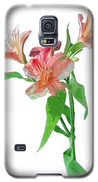 Galaxy S5 Case featuring the photograph Pink Peruvian Lilies by Karen Nicholson