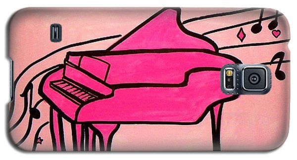 Pink Piano Galaxy S5 Case by Marisela Mungia