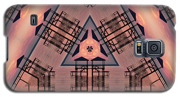 Pink Pier Kaleidoscope One Galaxy S5 Case
