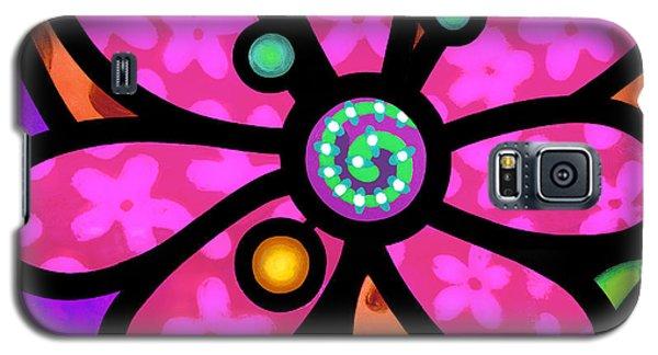 Pink Pinwheel Daisy Galaxy S5 Case