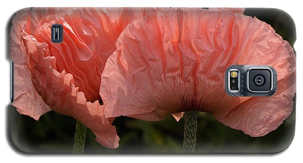 Galaxy S5 Case featuring the photograph Pink Poppies by Inge Riis McDonald
