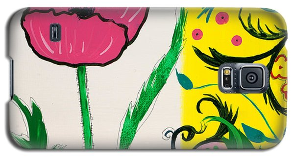Pink Poppy And Designs Galaxy S5 Case
