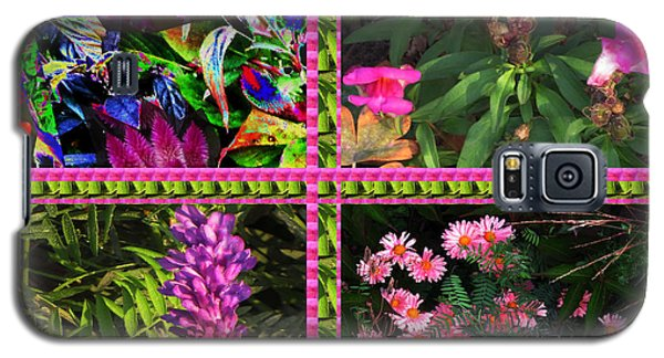 Pink Purple Flowers Captured At The Riverside Ridge At Oakville Ontario Canada Collage Beautiful     Galaxy S5 Case by Navin Joshi