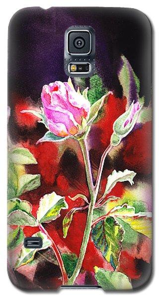 Pink Rose Bloom Galaxy S5 Case