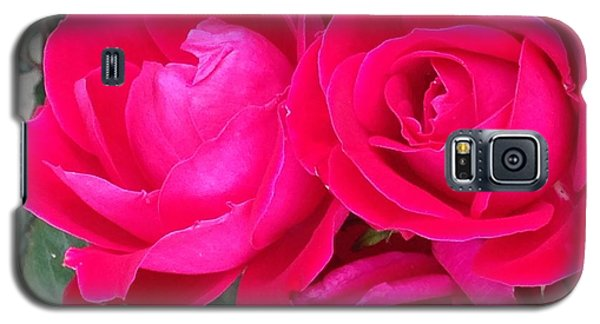 Pink Rose Blossoms Galaxy S5 Case