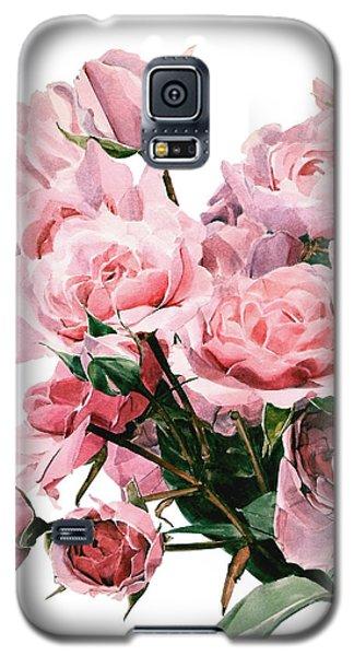 Pink Rose Bouquet Galaxy S5 Case