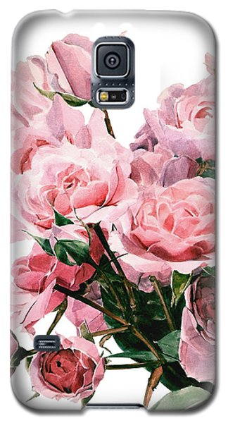 Pink Rose Bouquet Galaxy S5 Case by Greta Corens