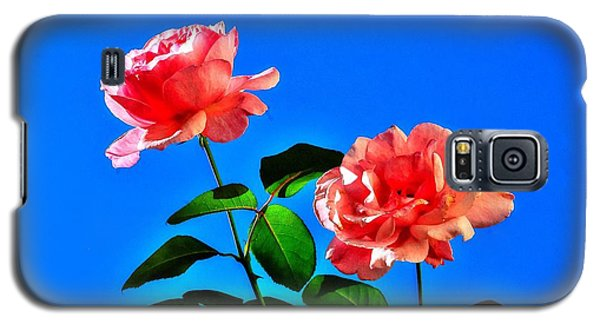 Pink Rose Galaxy S5 Case by Ed Roberts