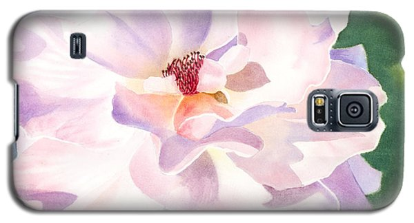Pink Rose - Transparent Watercolor Galaxy S5 Case