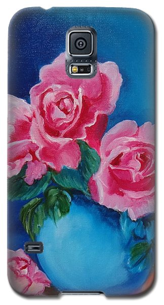 Pink Roses Galaxy S5 Case by Jenny Lee