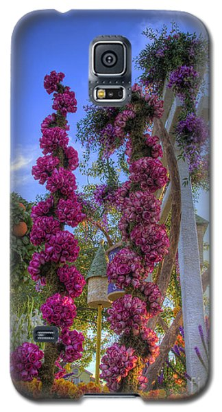 Pink Spirals Of Roses Galaxy S5 Case