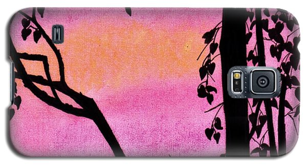 Galaxy S5 Case featuring the drawing Pink Sky Sunset by D Hackett