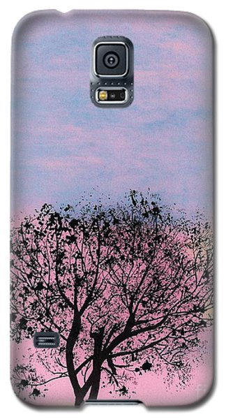 Galaxy S5 Case featuring the drawing Pink Sunset by D Hackett