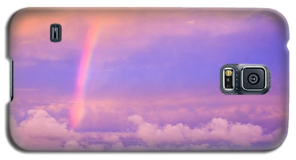 Galaxy S5 Case featuring the photograph Pink Sunset Rainbow by Peta Thames