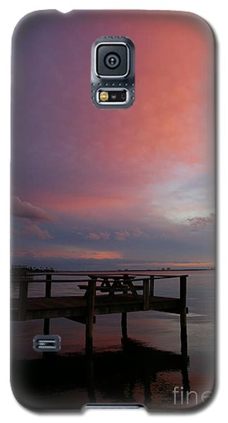 Galaxy S5 Case featuring the photograph Pink Sunset by Tannis  Baldwin