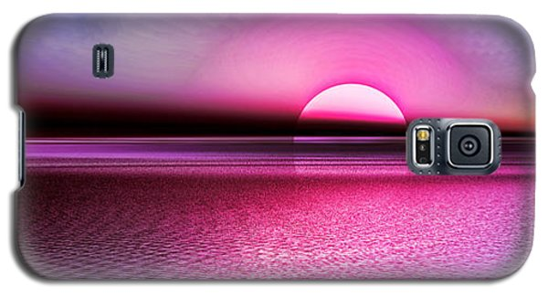 Galaxy S5 Case featuring the digital art Pink Sunset by Tyler Robbins