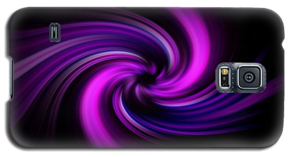 Pink Swirl Galaxy S5 Case by Trena Mara