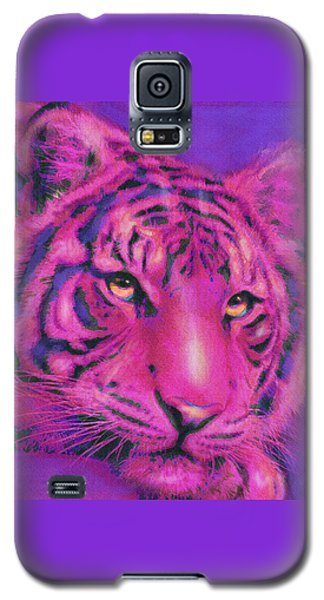 Pink Tiger Galaxy S5 Case by Jane Schnetlage