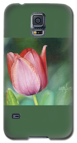 Galaxy S5 Case featuring the painting Pink Tulip by Joshua Martin