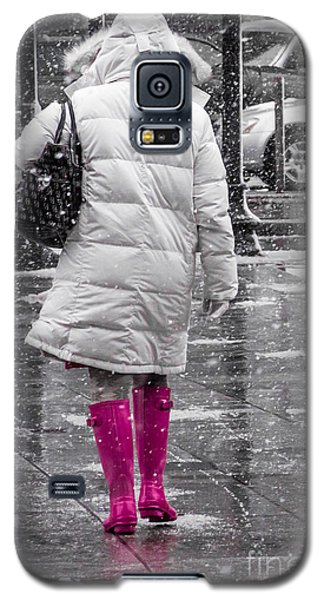 Pink Walk Galaxy S5 Case