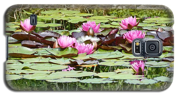 Pink Water Lilies Galaxy S5 Case