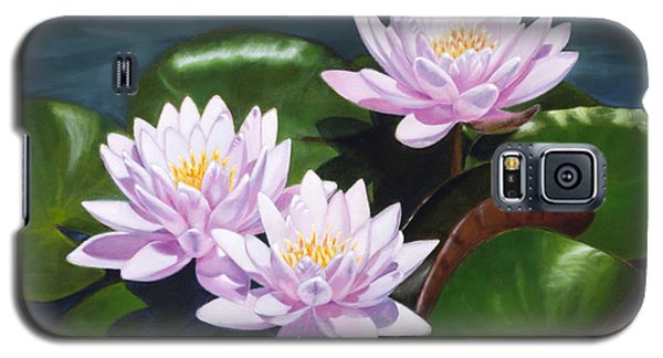 Pink Water Lilies - Oil Painting On Canvas Galaxy S5 Case